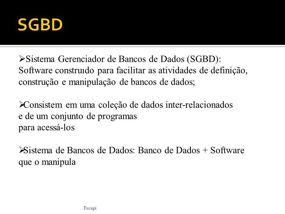 SGBD Sistema Gerenciador de Bancos de Dados (SGBD):