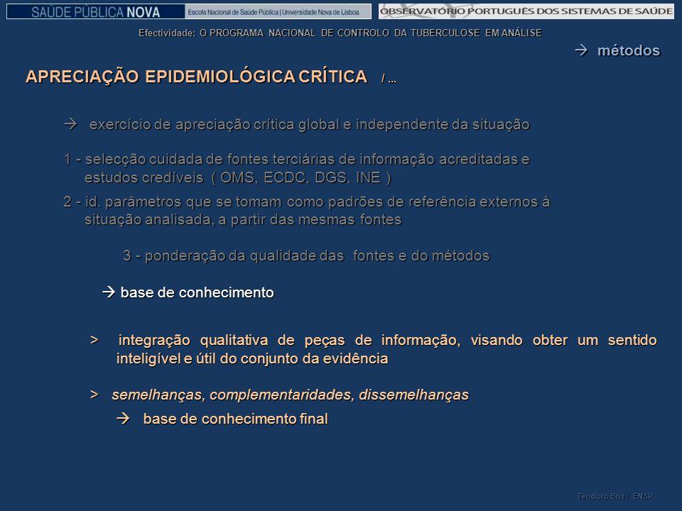 APRECIAÇÃO EPIDEMIOLÓGICA CRÍTICA / ...