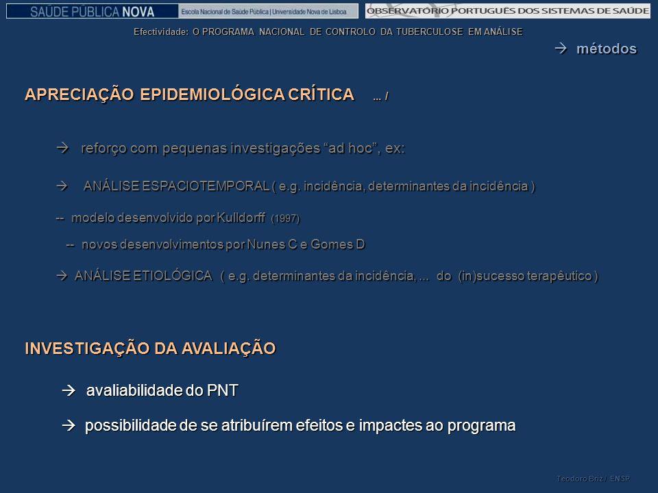 APRECIAÇÃO EPIDEMIOLÓGICA CRÍTICA ... /