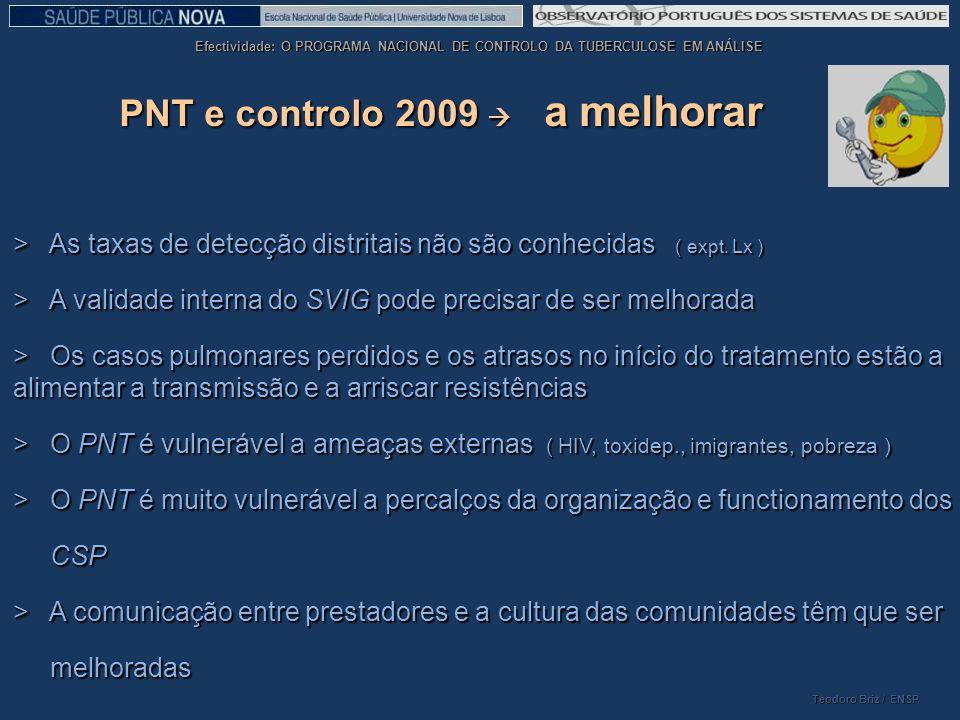PNT e controlo 2009  a melhorar