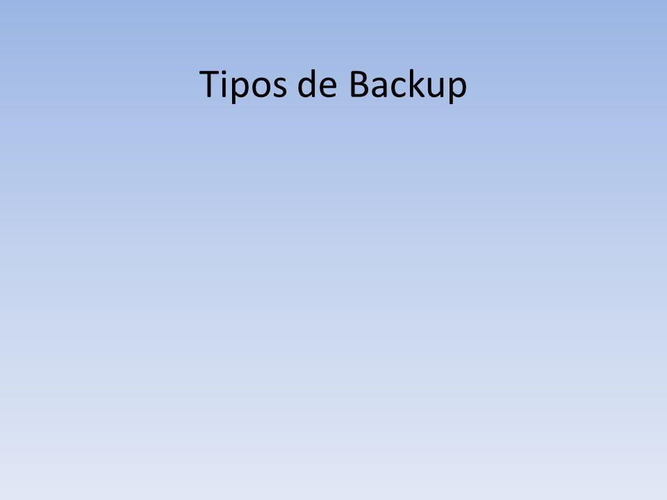 Tipos de Backup