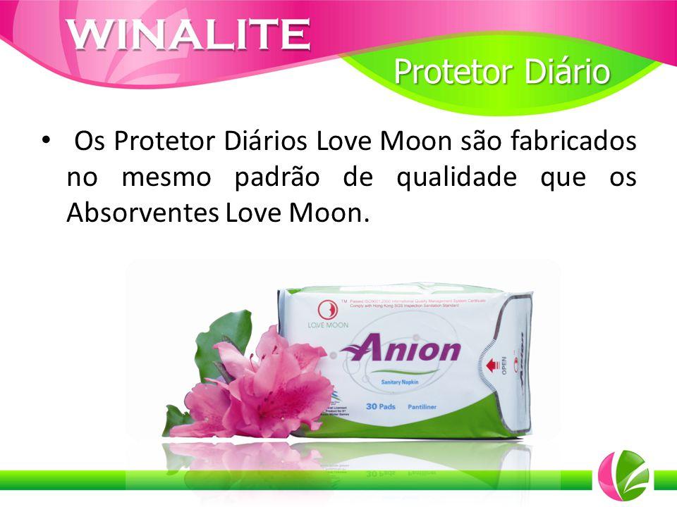 Protetor Diário Os Protetor Diários Love Moon são fabricados no mesmo padrão de qualidade que os Absorventes Love Moon.