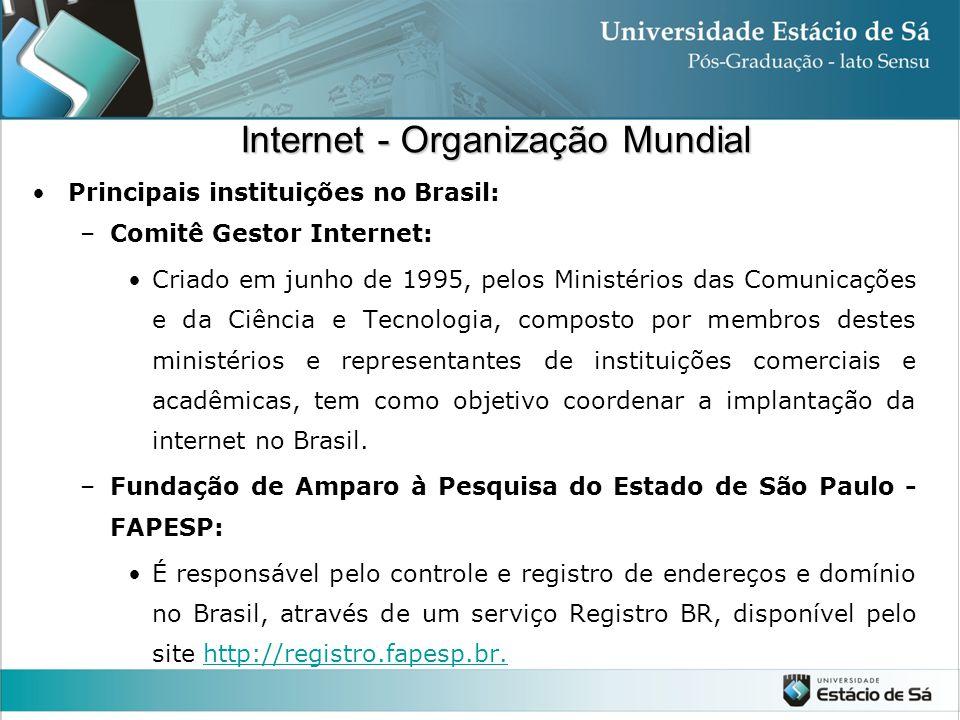 Internet - Organização Mundial