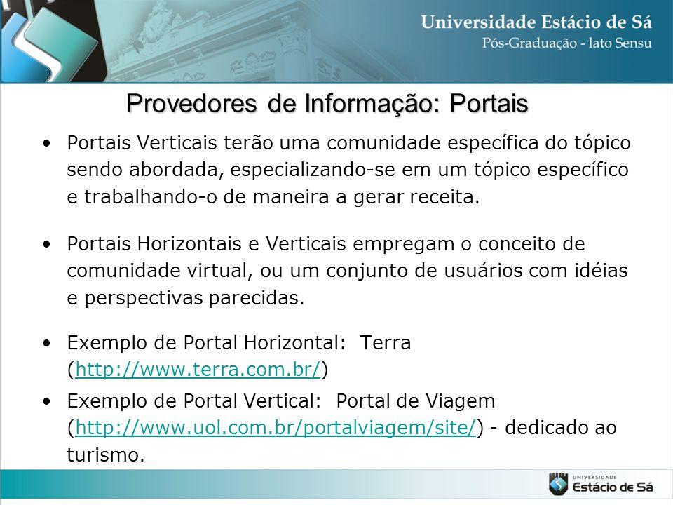 Provedores de Informação: Portais