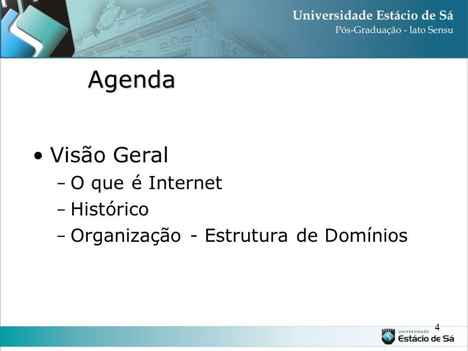 Agenda Visão Geral O que é Internet Histórico