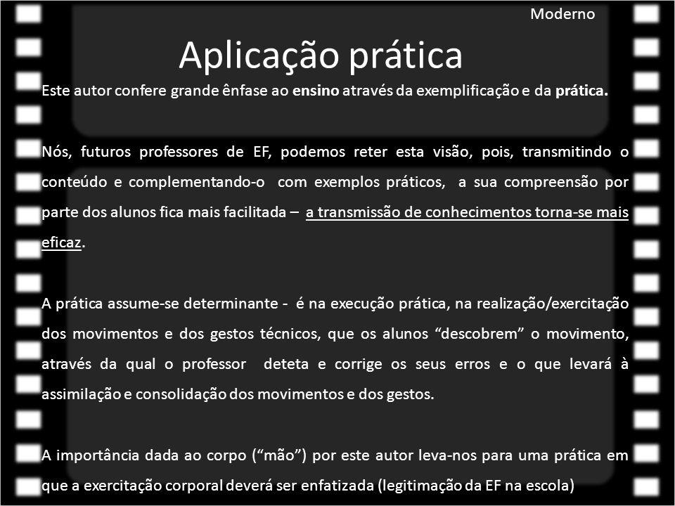 Aplicação prática Moderno