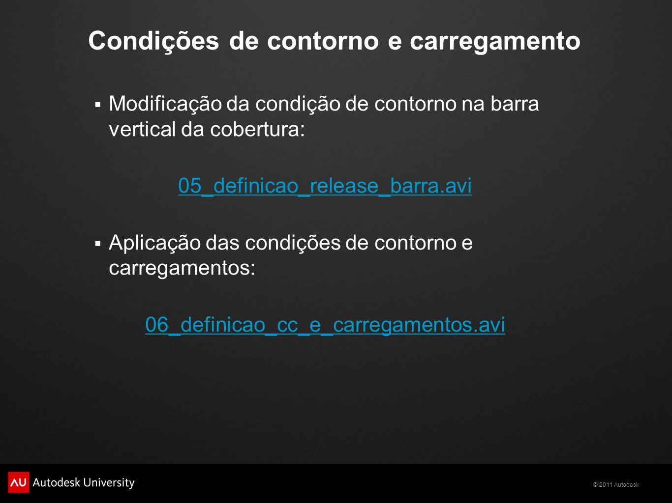 Condições de contorno e carregamento
