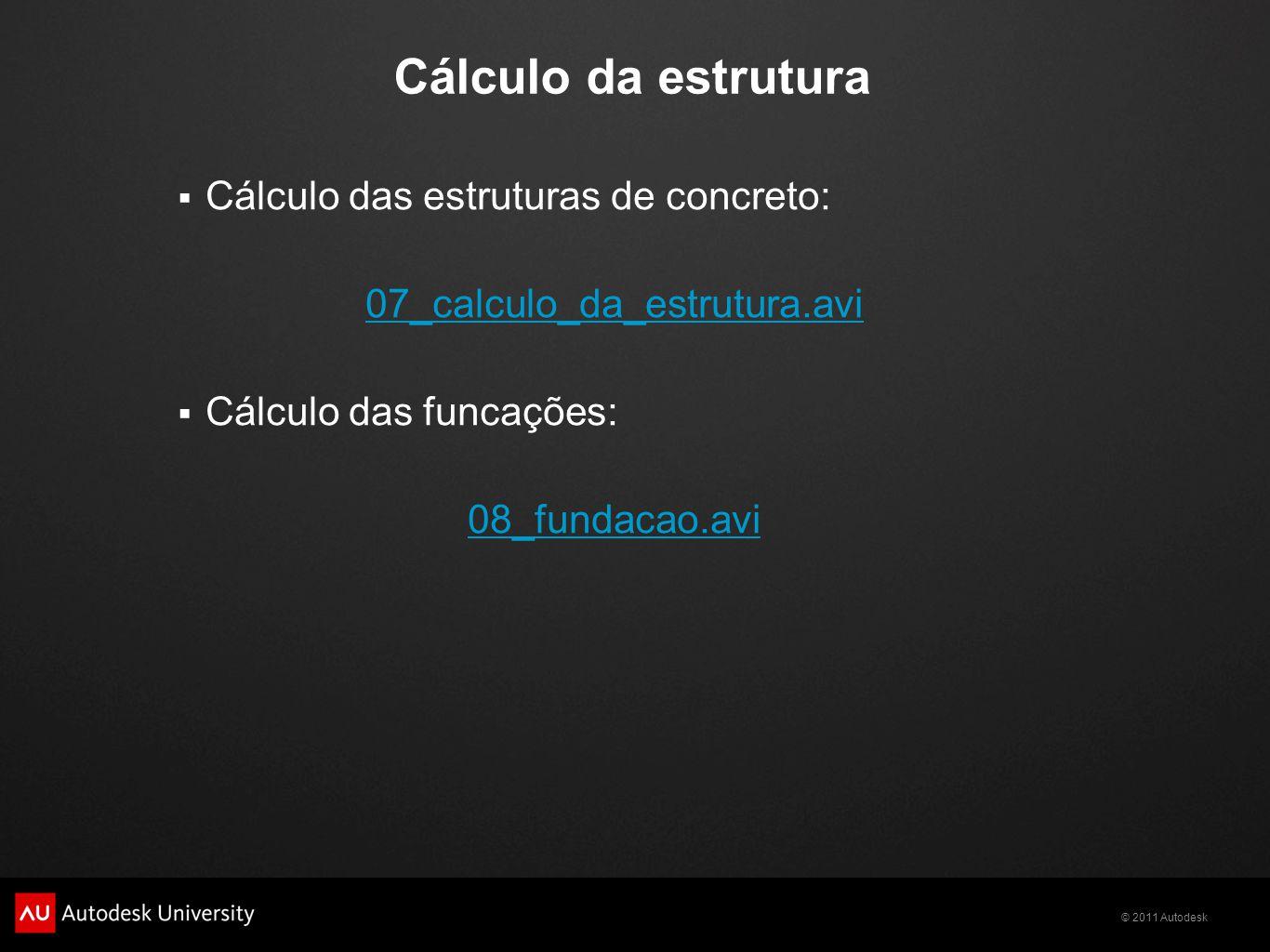 Cálculo da estrutura Cálculo das estruturas de concreto: