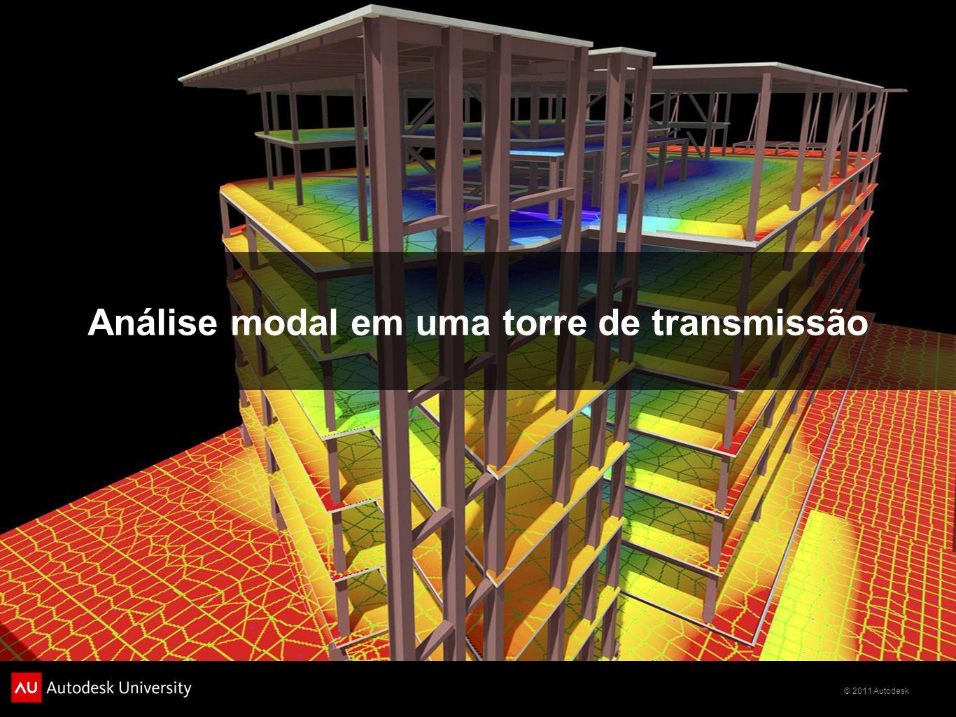 Análise modal em uma torre de transmissão
