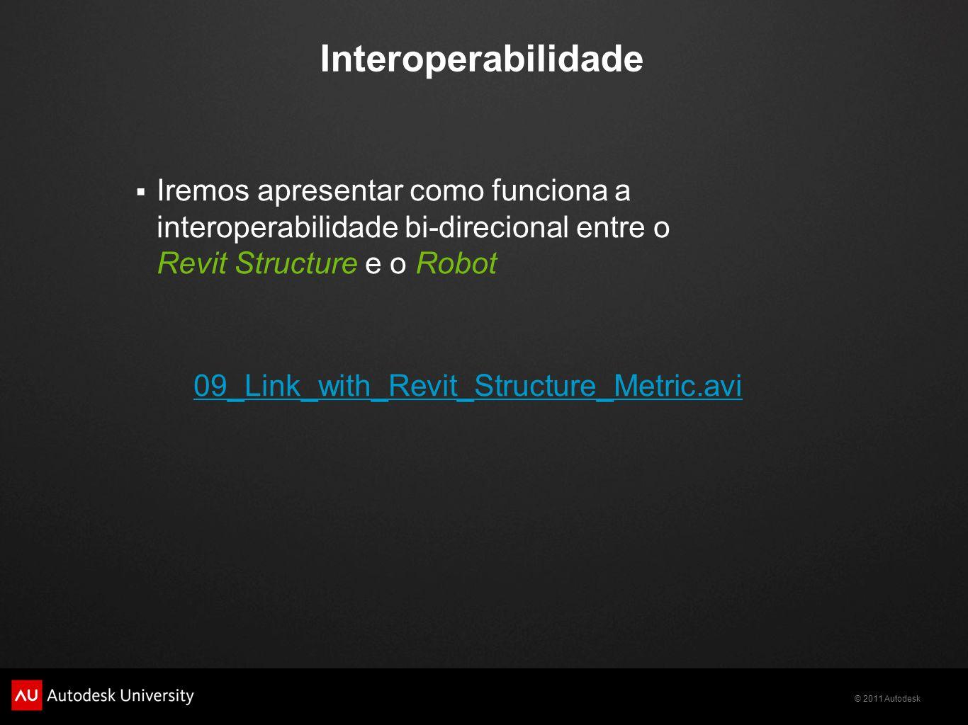 Interoperabilidade Iremos apresentar como funciona a interoperabilidade bi-direcional entre o Revit Structure e o Robot.