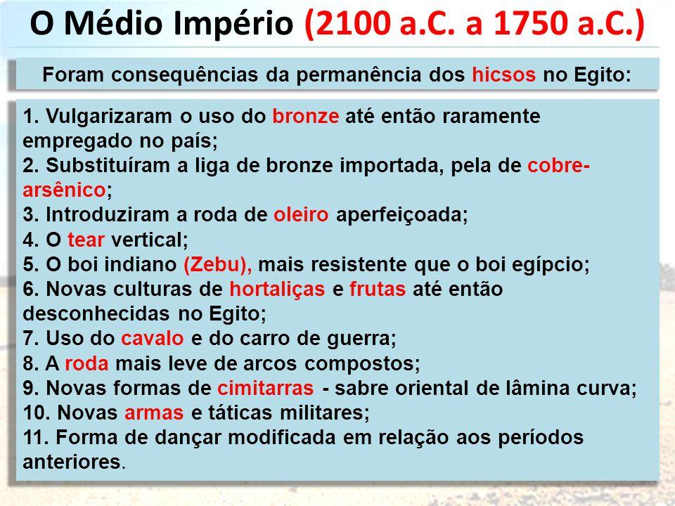 O Médio Império (2100 a.C. a 1750 a.C.)