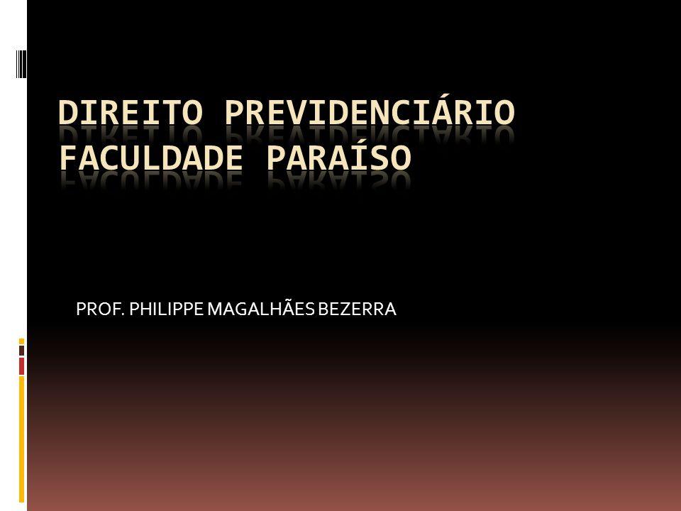 DIREITO PREVIDENCIÁRIO FACULDADE PARAÍSO