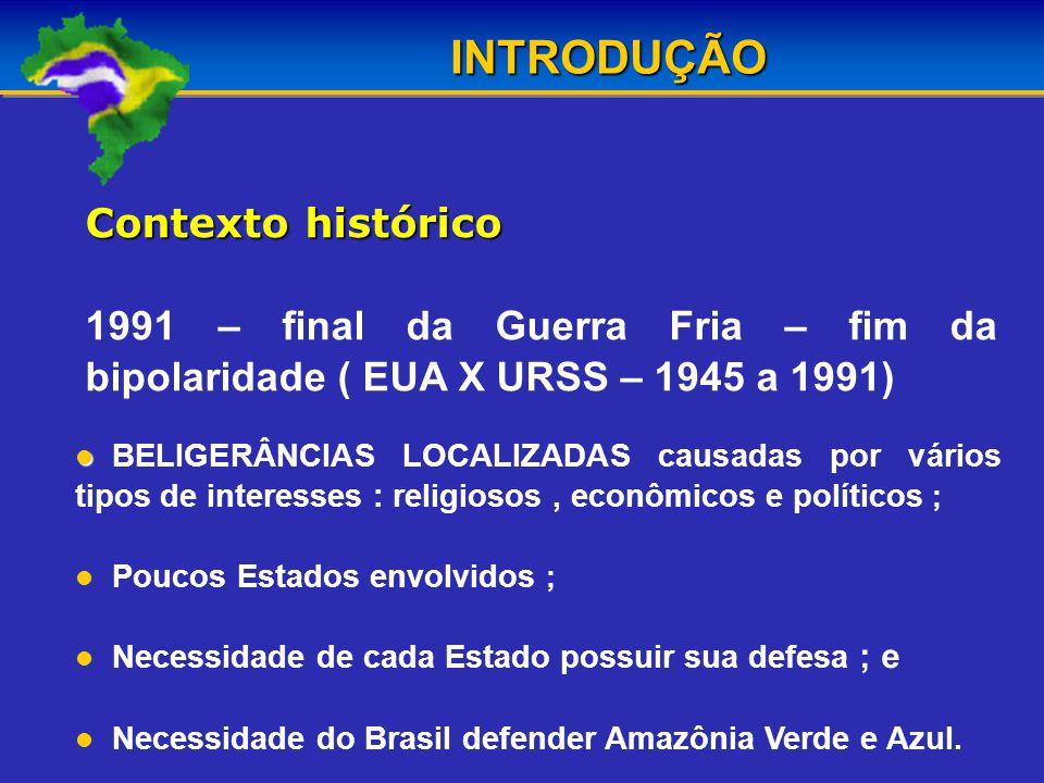 INTRODUÇÃO Contexto histórico