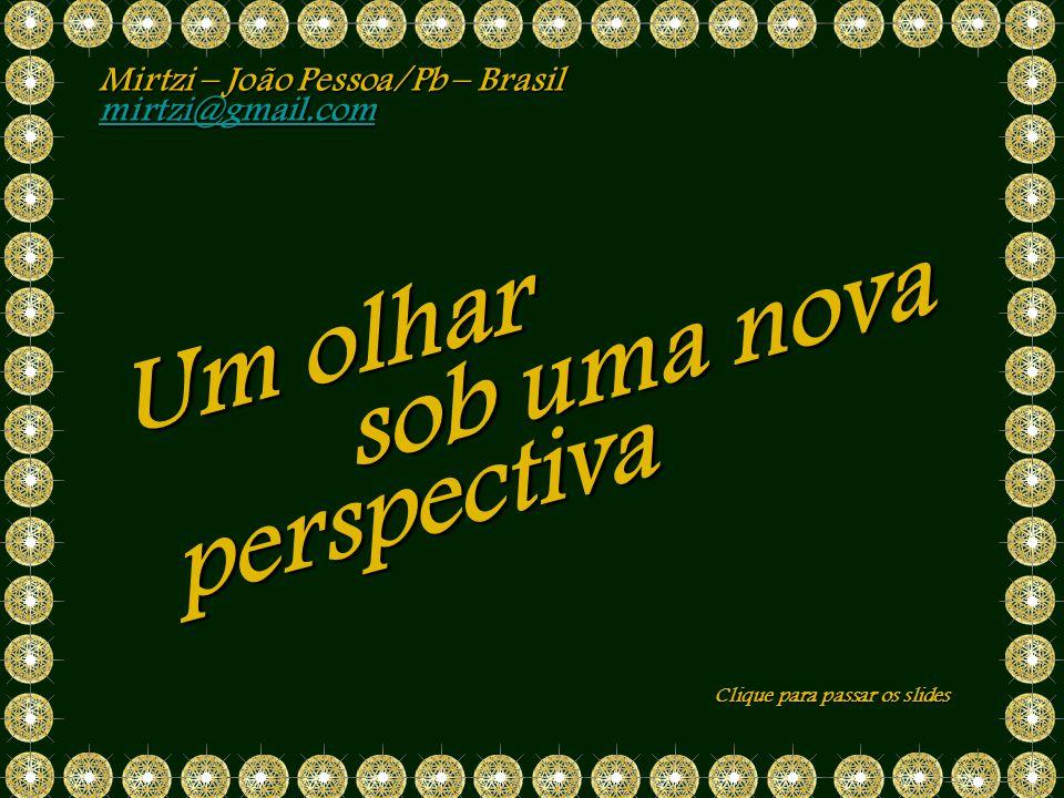 Um olhar sob uma nova perspectiva Mirtzi – João Pessoa/Pb – Brasil
