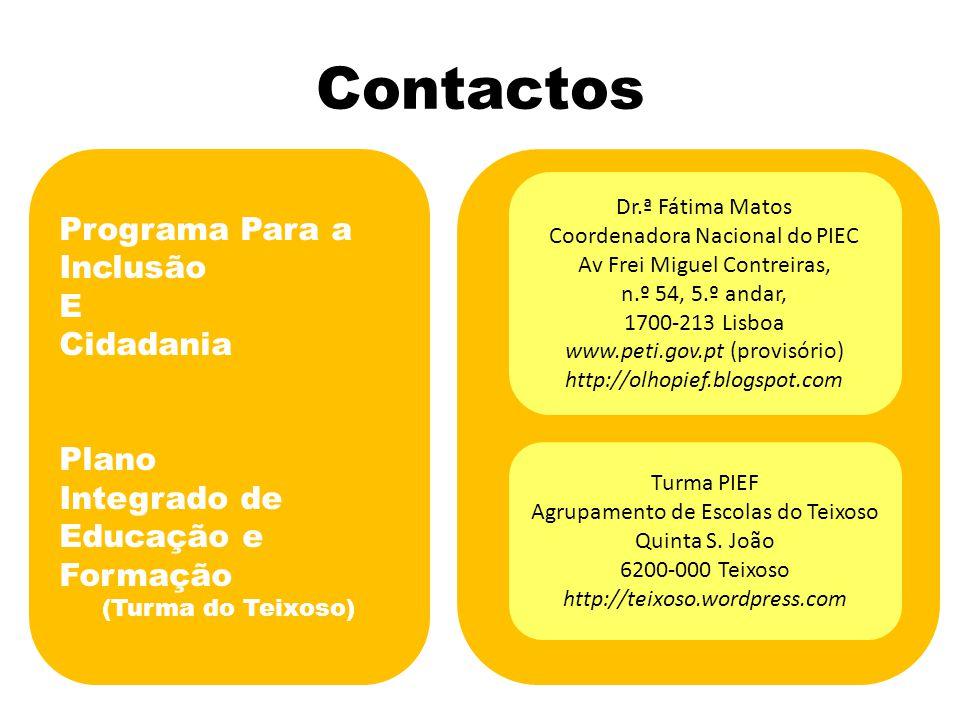 Contactos Programa Para a Inclusão E Cidadania Plano