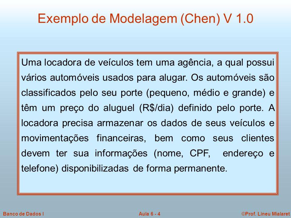 Exemplo de Modelagem (Chen) V 1.0