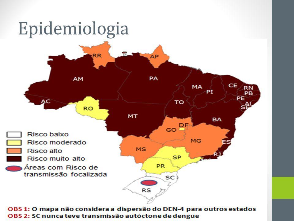 Epidemiologia Mapeamento dos municípios infestados por Aedes aegypti em 2008. Fonte: Ministério da Saúde.
