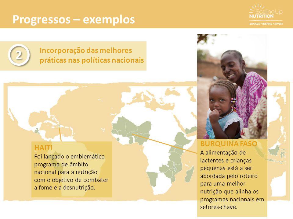 Progressos – exemplos 2. Incorporação das melhores práticas nas políticas nacionais. BURQUINA FASO.
