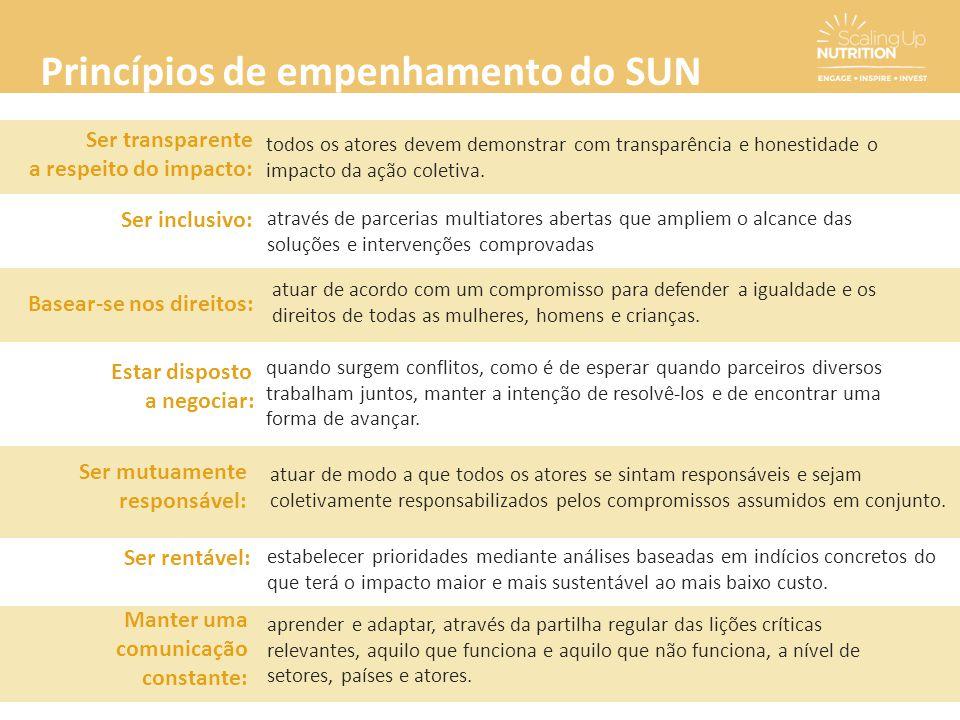 Princípios de empenhamento do SUN