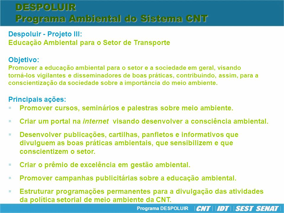 Programa Ambiental do Sistema CNT