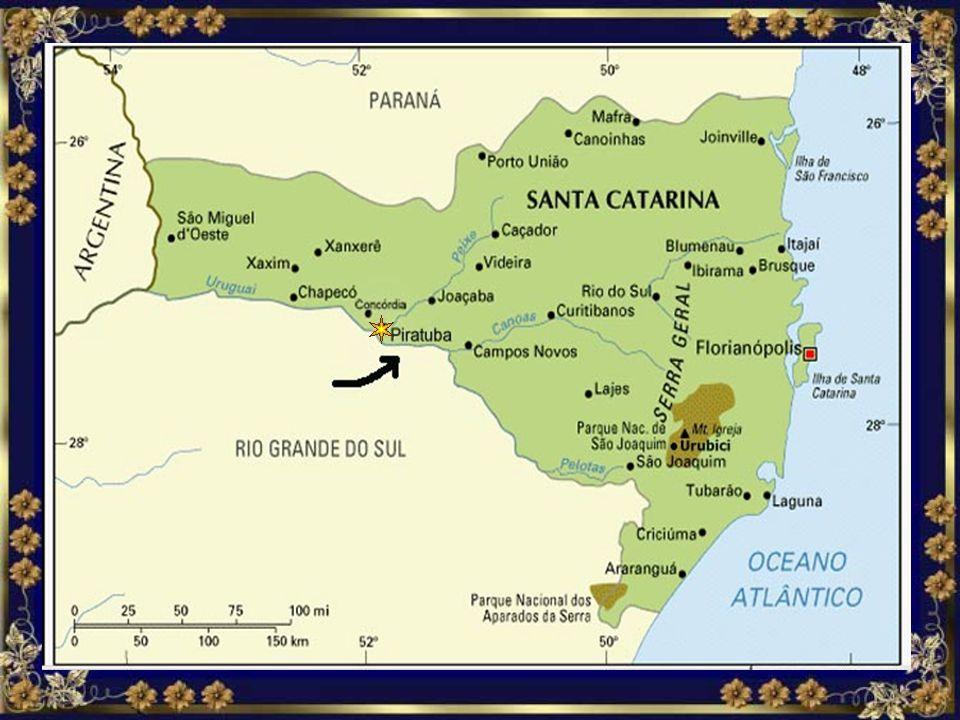Localização MAPA DE SANTA CATARINA