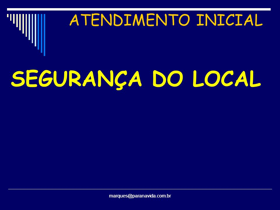 SEGURANÇA DO LOCAL ATENDIMENTO INICIAL marques@paranavida.com.br