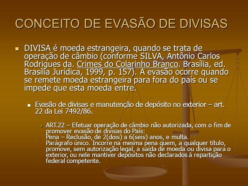 CONCEITO DE EVASÃO DE DIVISAS