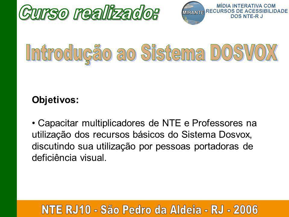 Introdução ao Sistema DOSVOX