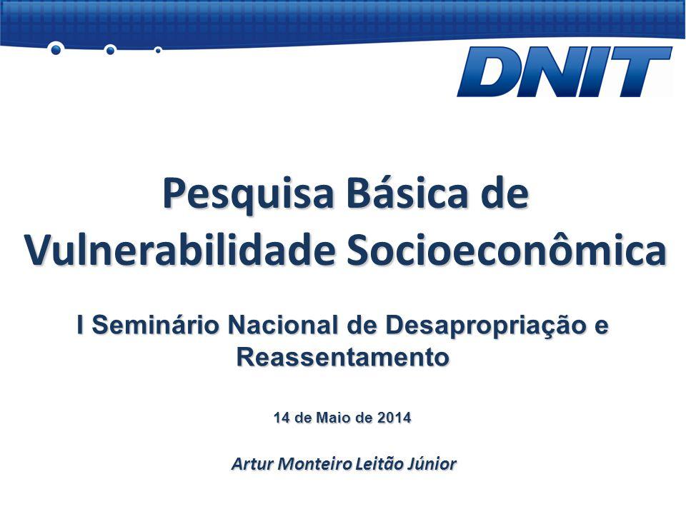 Pesquisa Básica de Vulnerabilidade Socioeconômica