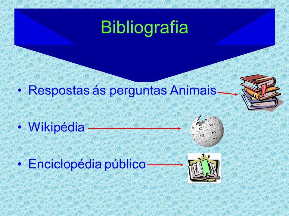 Bibliografia Respostas ás perguntas Animais Wikipédia