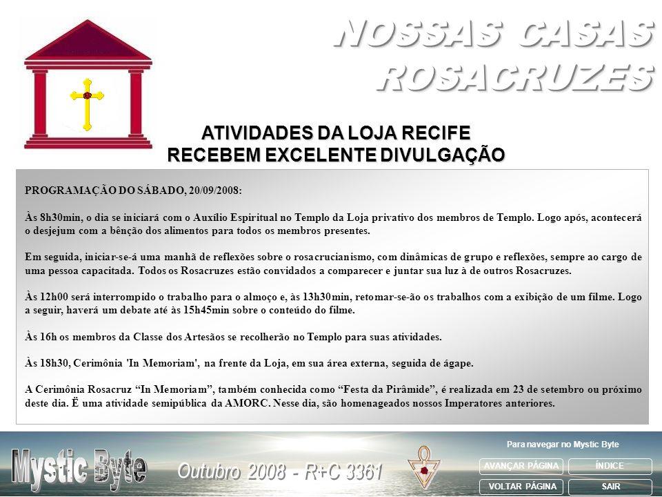 NOSSAS CASAS ROSACRUZES