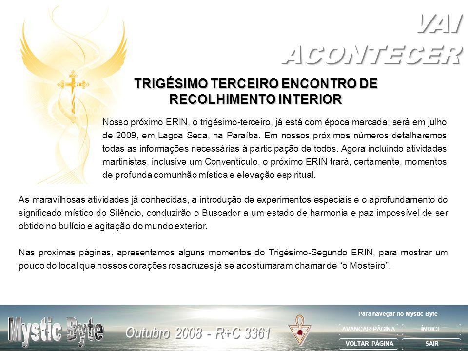VAI ACONTECER TRIGÉSIMO TERCEIRO ENCONTRO DE RECOLHIMENTO INTERIOR