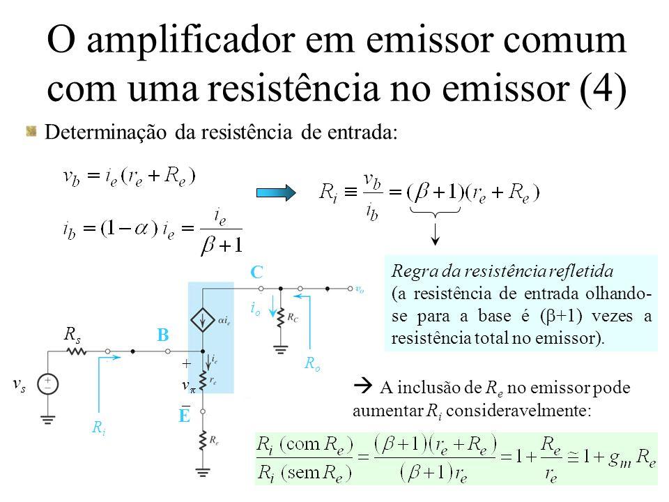 O amplificador em emissor comum com uma resistência no emissor (4)