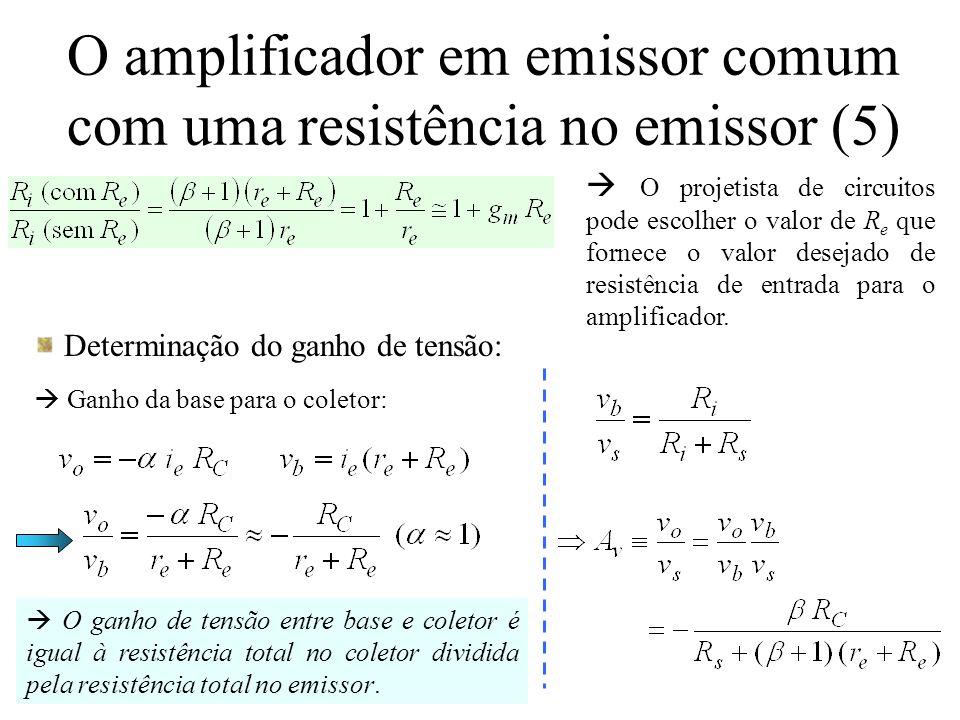 O amplificador em emissor comum com uma resistência no emissor (5)
