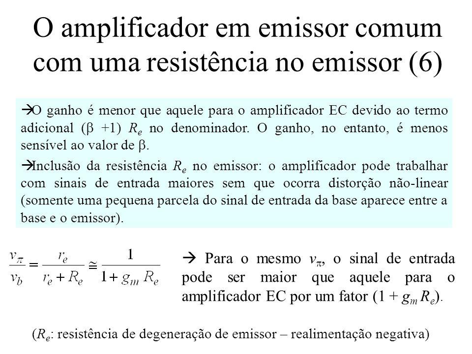 O amplificador em emissor comum com uma resistência no emissor (6)