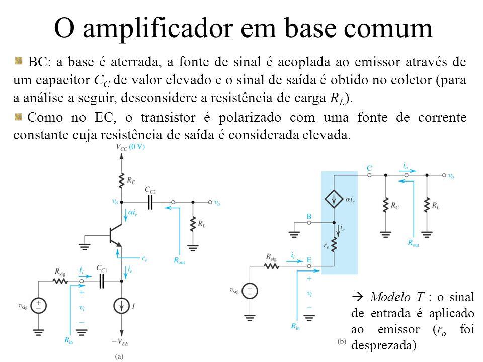 O amplificador em base comum