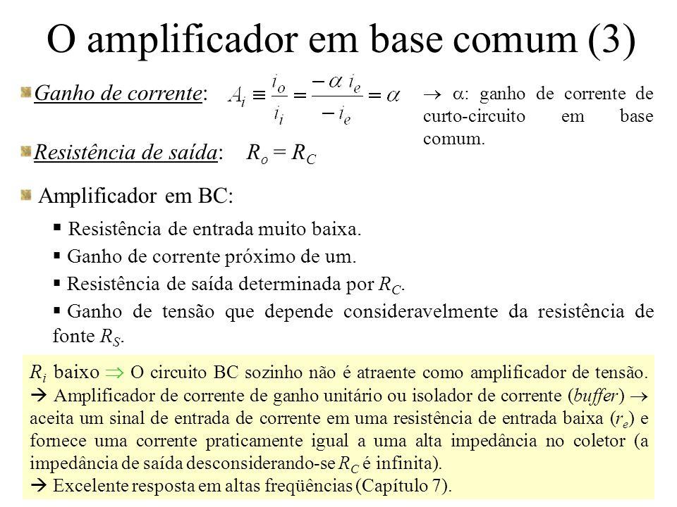 O amplificador em base comum (3)