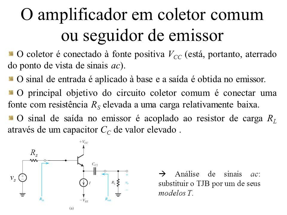 O amplificador em coletor comum ou seguidor de emissor