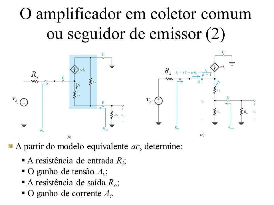 O amplificador em coletor comum ou seguidor de emissor (2)