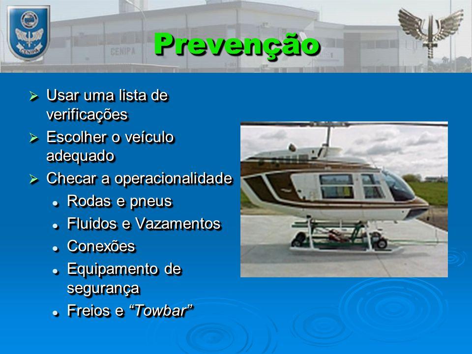 Prevenção Usar uma lista de verificações Escolher o veículo adequado