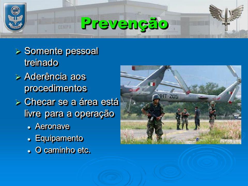 Prevenção Somente pessoal treinado Aderência aos procedimentos