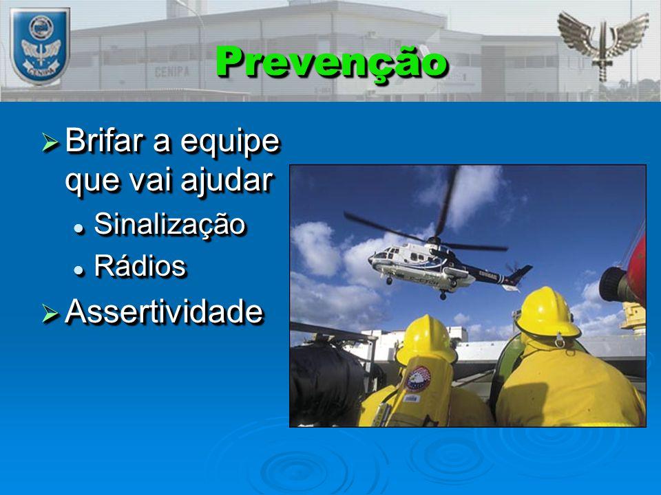Prevenção Brifar a equipe que vai ajudar Assertividade Sinalização