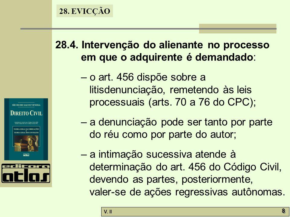 28.4. Intervenção do alienante no processo em que o adquirente é demandado: