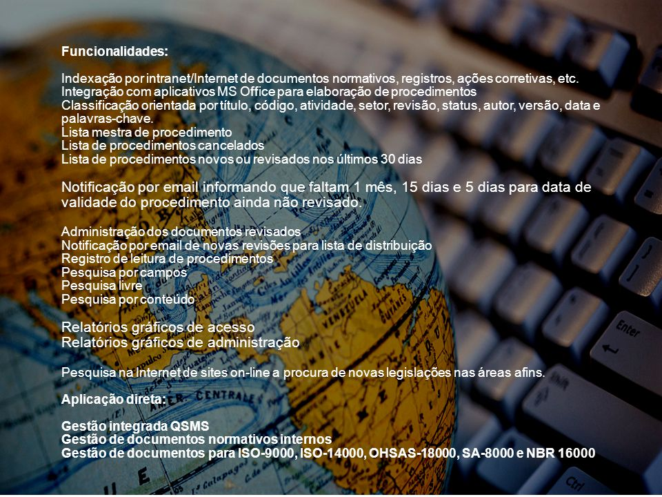 Relatórios gráficos de acesso Relatórios gráficos de administração