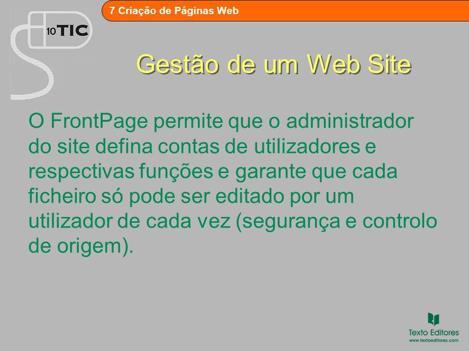 Gestão de um Web Site