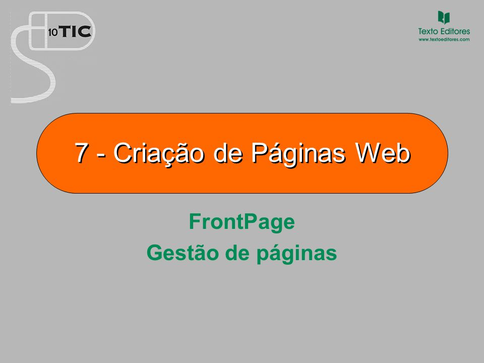 7 - Criação de Páginas Web
