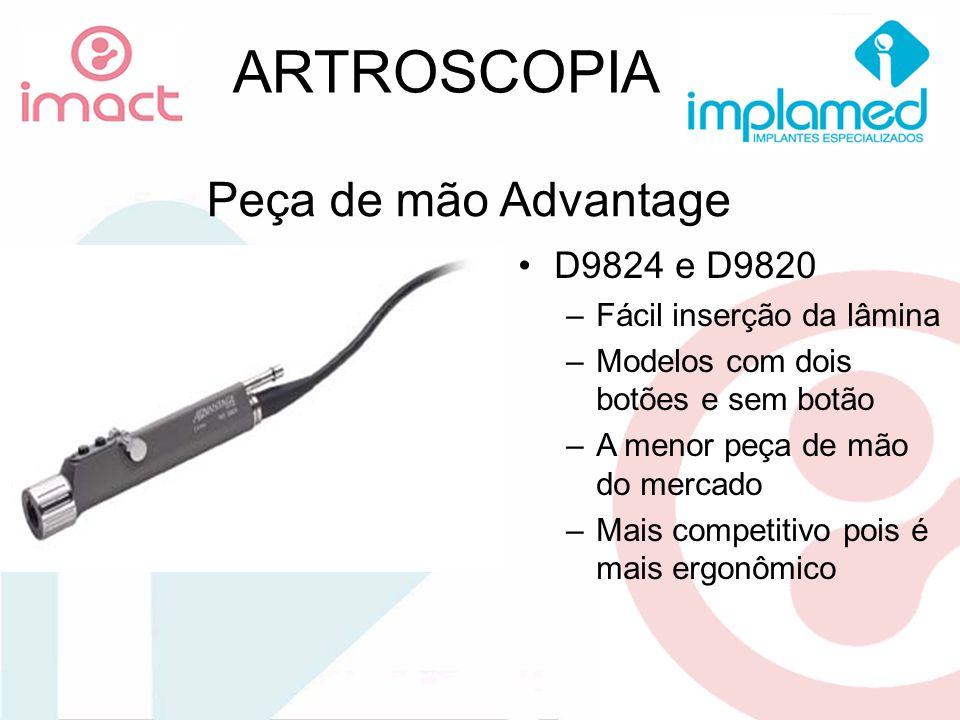 ARTROSCOPIA Peça de mão Advantage D9824 e D9820
