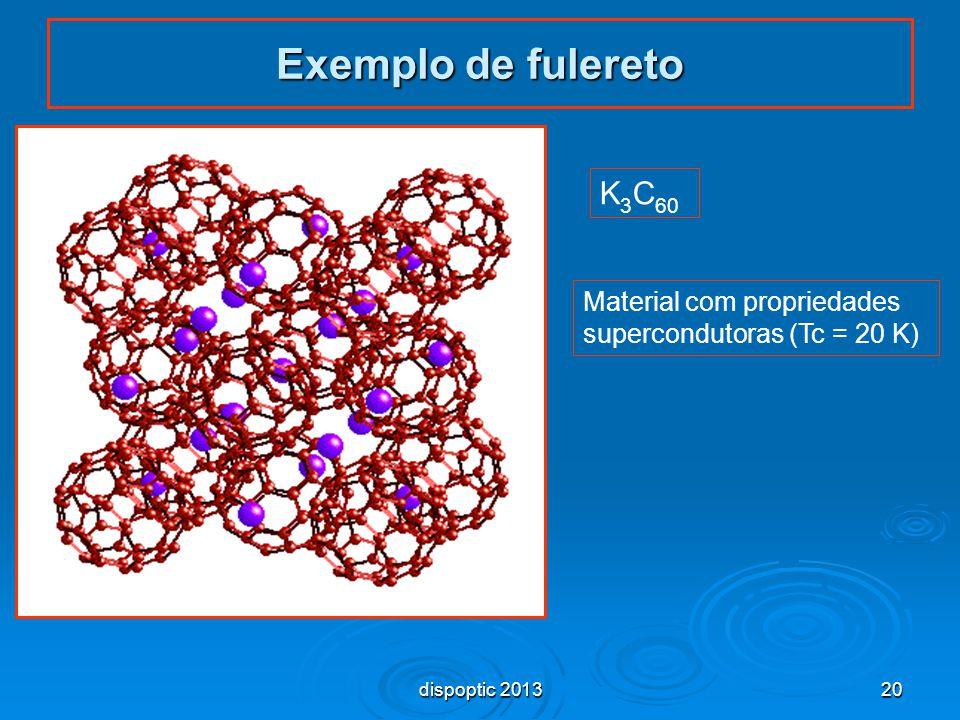 Exemplo de fulereto K3C60 Material com propriedades