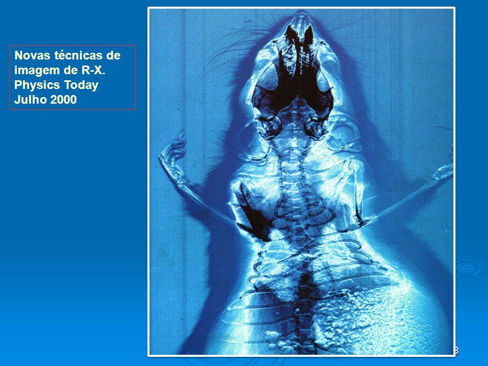 Novas técnicas de imagem de R-X. Physics Today Julho 2000