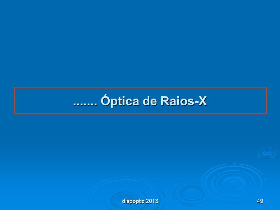 ....... Óptica de Raios-X dispoptic 2013